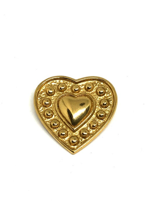 Broche double coeur Yves...