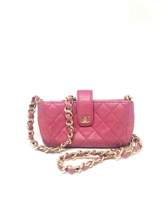 Mini sac rose Chanel