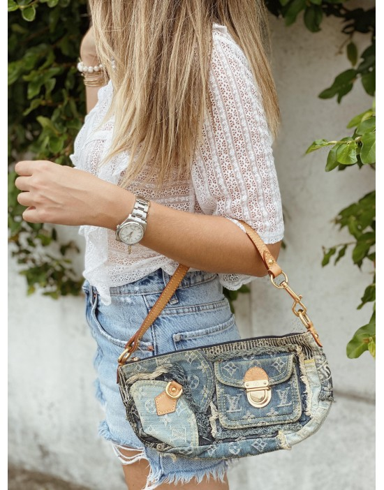Sac en denim Louis Vuitton